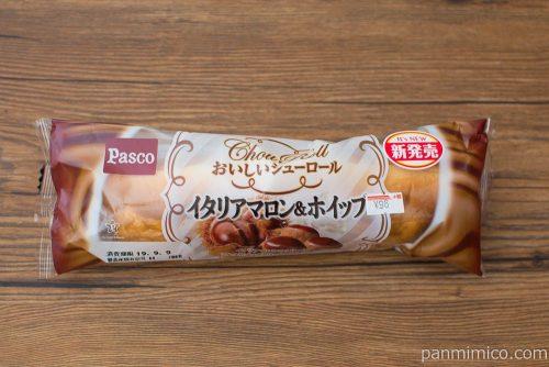 おいしいシューロール イタリアマロン&ホイップ【Pasco】パッケージ
