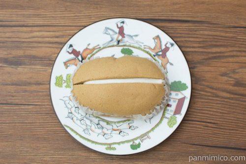 ほうじ茶ラテ風スチームケーキ【第一パン】上から見た図