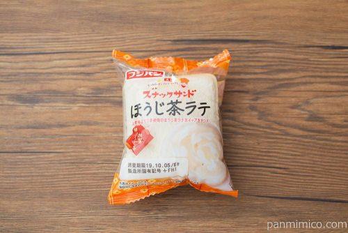 スナックサンドほうじ茶ラテ【フジパン】パッケージ