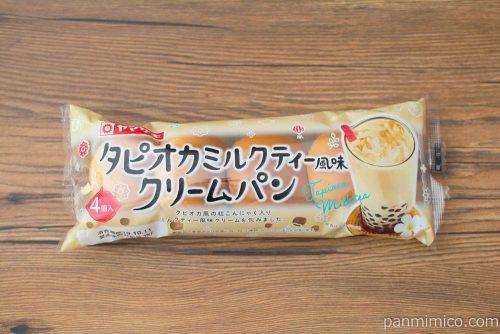 タピオカミルクティー風味クリームパン(4)【ヤマザキ】パッケージ