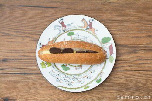 マチノパン ショコラサンド バター【ローソン】上から見た図