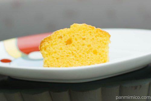 NL 糖質オフのアーモンドケーキレモン 2個入【ローソン】断面図