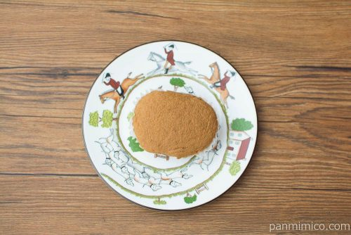 NL ブランのキャラメル蒸しケーキ2個入【ローソン】上から見た図
