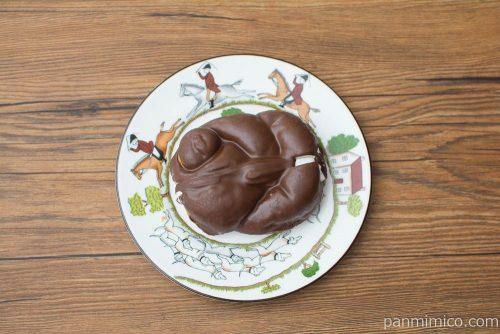 チョコホイップドーナツ【ローソン】上から見た図