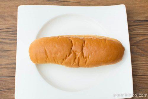 フエキくんのコッペパン(ミルククリーム)【ローソン】上から見た図