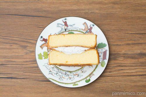 たっぷりたまごのケーキ【フジパン】上から見た図