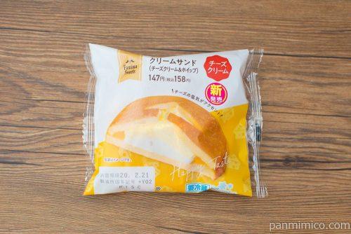 ダブルクリームサンド(チーズクリーム&ホイップ)【ファミリーマート】パッケージ