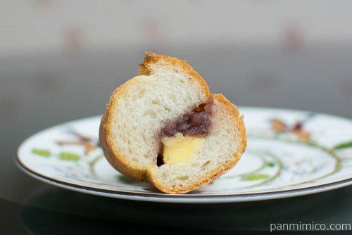 マチノパン あんことバターのフランスパン【ローソン】断面図