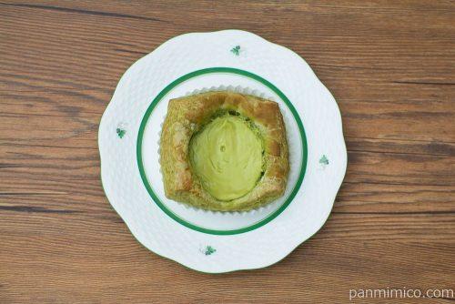 宇治抹茶のチーズデニッシュ【Pasco】上から見た図