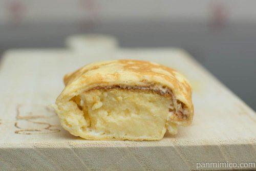 バスク風チーズケーキのクレープ【ヤマザキ】断面図