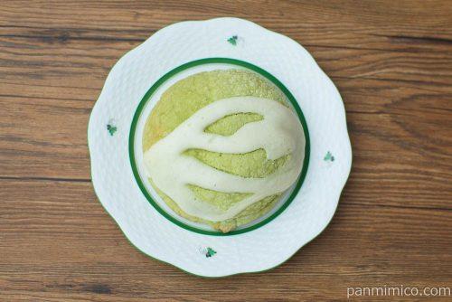 お抹茶ぱん(3種のお豆)【ヤマザキ】上から見た図