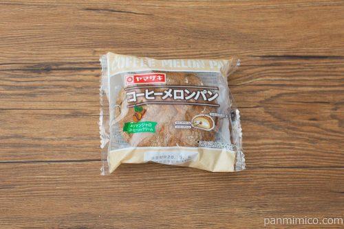 コーヒーメロンパン(キリマンジャロコーヒー入りクリーム)【ヤマザキ】パッケージ