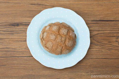 コーヒーメロンパン(キリマンジャロコーヒー入りクリーム)【ヤマザキ】上から見た図