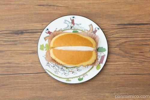 スイートマロン蒸しケーキ【ヤマザキ】上から見た図