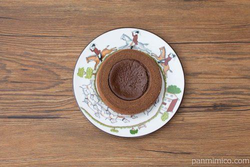 生チョコを使ったチョコケーキのバウム【ファミリーマート】上から見た図