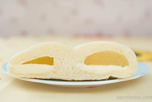 有機ジャージー牛乳クリームパン【第一パン】断面図