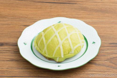 ヨッシーのみどりのメロンパン【セブンイレブン】横から見た図