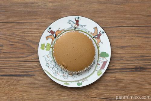 酪王カフェオレ蒸しケーキ【第一パン】上から見た図