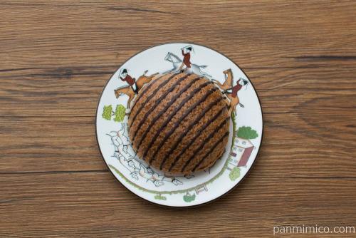 生チョコ仕立てのメロンパン【セブンイレブン】上から見た図