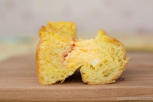 ふんわりトーストのたまごサンド【セブンイレブン】断面