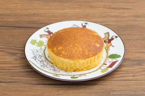 温めてとろける半熟カステラ風蒸しケーキ【第一パン】斜め